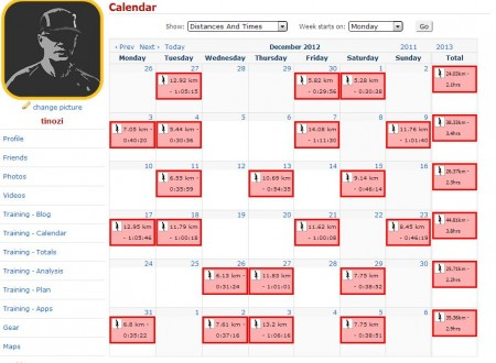 Laufkalender Dezember 2012