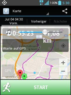 Jog-Tracker App-Screen