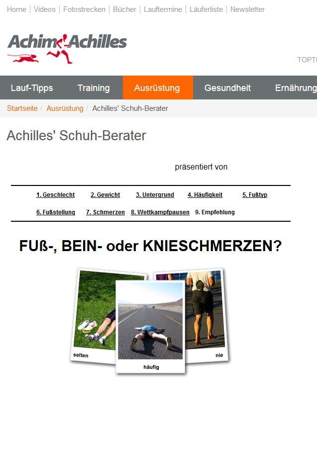 Der RUNNERS POINT Online Laufschuhberater