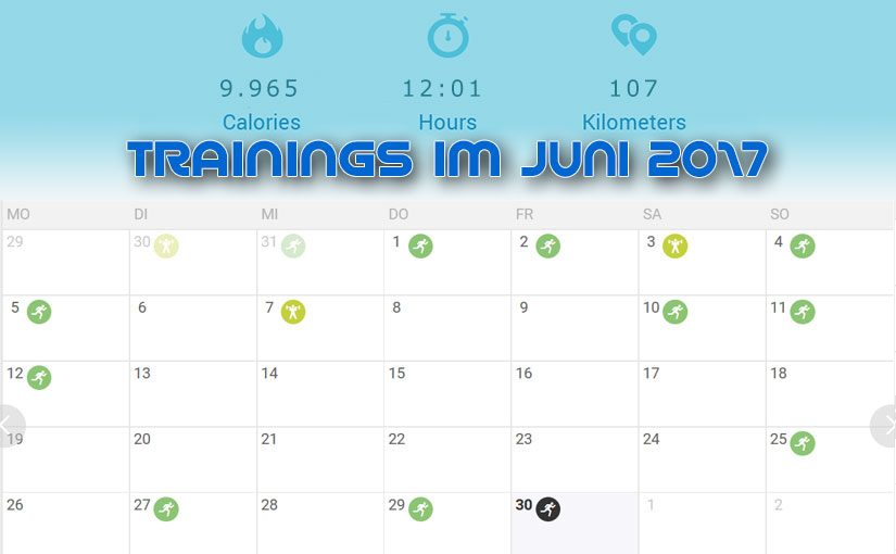 Training mit Zwangspause: Juni 2017