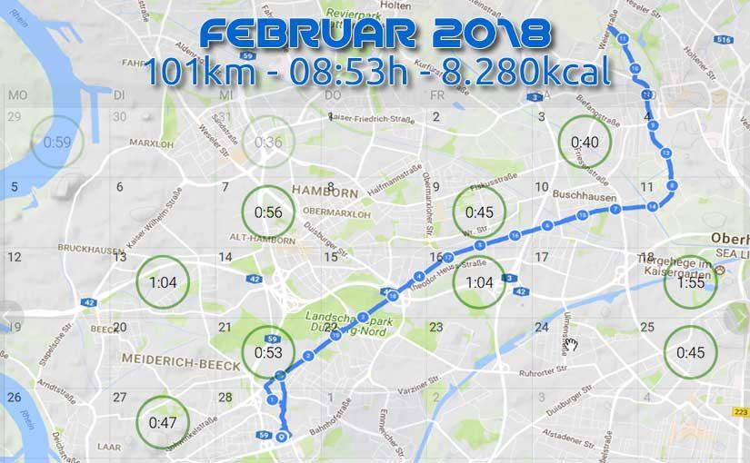 Februar '18 – mit 9TE auf 100